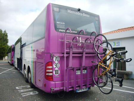 Exemple de porte-vélos pour autocar